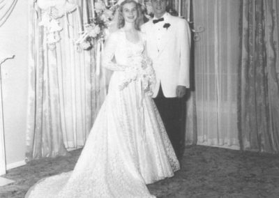 Ann and Truman on their wedding day
